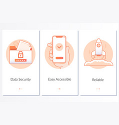 security quick and easy launch reliable service vector image