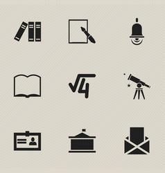 Set of 9 editable school icons includes symbols vector