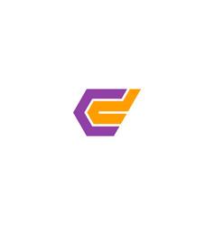 shape colored geometry company logo vector image