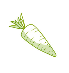 Silhouette fresh carrot organ vegetable food vector