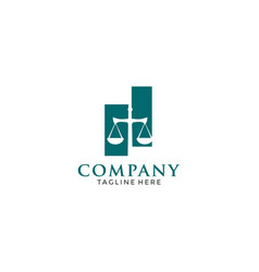Simple law firm with sword logo icon design vector