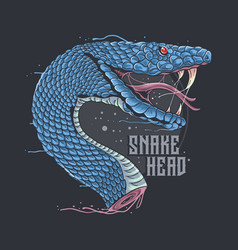 snake head artwork with editable layers vector image