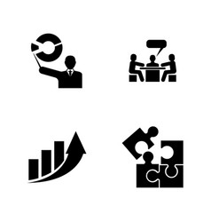 speech analytics simple related icons vector image
