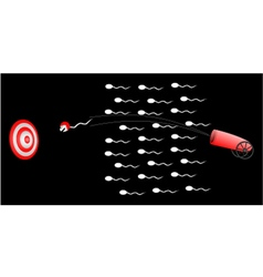speed sperm vector image
