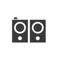 stereo speakers icon vector image