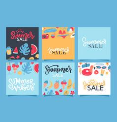 summer sale banners set hello elements vector image
