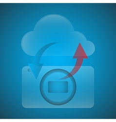 Symbols have the camera with the Cloud vector image