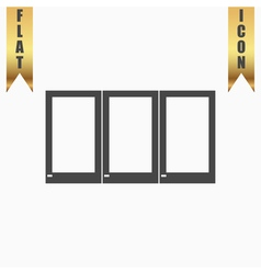 Three window icon sign and button vector