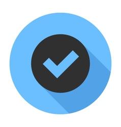 Tick Icon Flat Design icon vector image