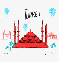 turkey architecture cartoon vector image