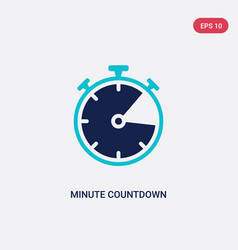 Two color minute countdown icon from electronic vector