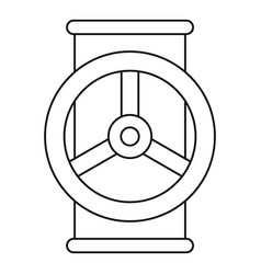 Valve icon outline style vector