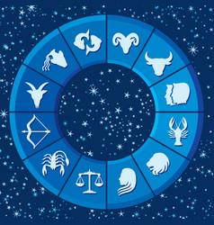 zodiac signs or horoscope symbols vector image