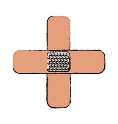 Ban aid icon vector