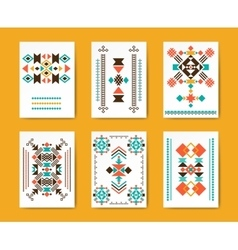 Geometric hipster tribal triangular flyers vector image vector image