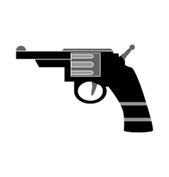 Revolver symbol icon on white vector image