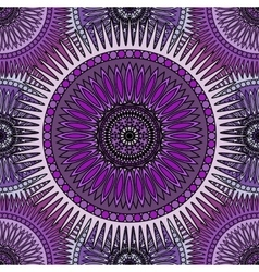 Seamless violet pattern with oriental mandalas vector image vector image