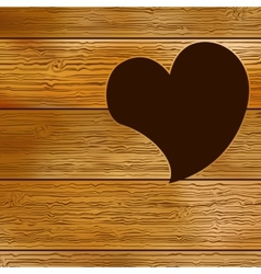 Wooden door heart shape EPS8 vector image vector image
