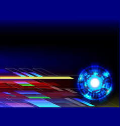 abstract technology background with copy space vector image vector image