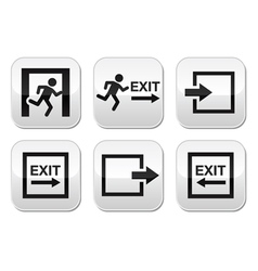 Emergency exit buttons set vector image vector image