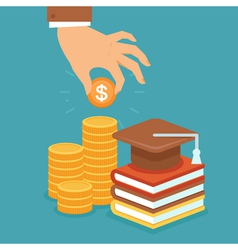 invest in education vector image vector image