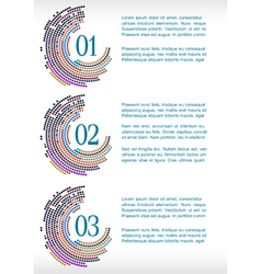 progress template with abstract mosaic vector image