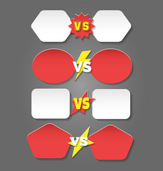 battle versus labels in flat style vector image