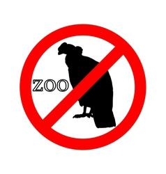 Condor in zoo prohibited vector
