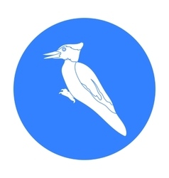 Woodpecker icon in black style isolated on white vector image vector image