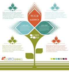Modern design Ecology business template vector image vector image