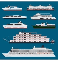 Passenger ships infographic vector image vector image