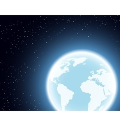 Planet Earth in the Space vector image