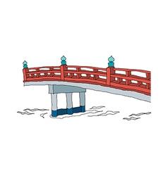 A view of bridge vector