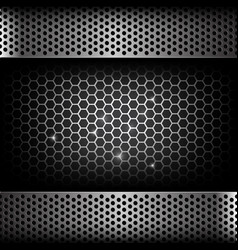 Abstract background dark with honeycomb and hold vector