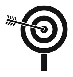 arrow target icon simple style vector image