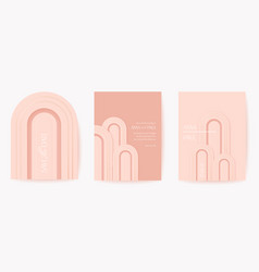 art deco luxury card set modern minimal 3d vector image