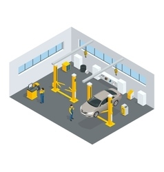 Auto mechanic service Service station Flat icons vector