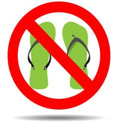Ban flip flops vector