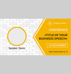 Banner template for business meeting vector