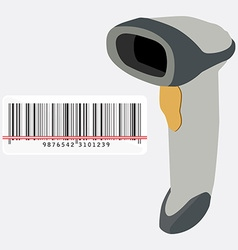 Barcode scanner and barcode vector