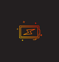 battery charging icon design vector image