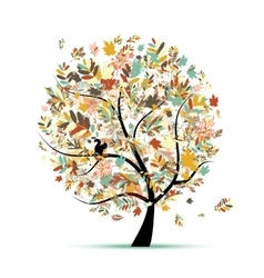 Beautiful autumn tree for your design vector