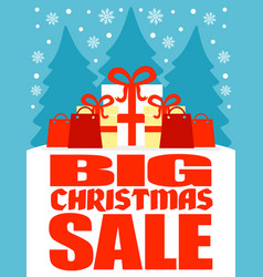 big christmas sale poster vector image