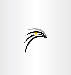 bird hawk icon symbol vector image