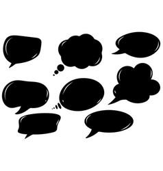 black comic speech bubbles vector image