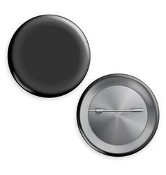 blank black badge advertise blank round vector image