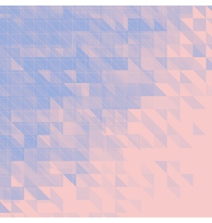 blue and pink triangular abstract background vector image