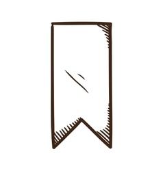 Bookmark ribbon vector image