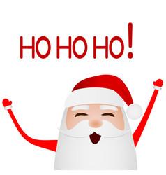 cartoon funny santa claus waving hand isolated vector image