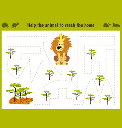 Cartoon of education matching game vector